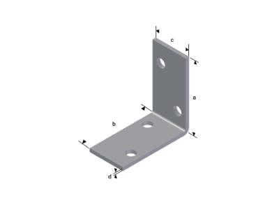 M1 veida mini stūra leņķi, karsti cinkoti