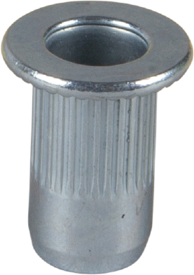 BLIND NUT RIVET STEEL, FLAT HEAD, ZINC PLATED
