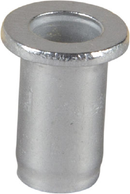 BLIND NUT RIVET ALUMINIUM, FLAT HEAD