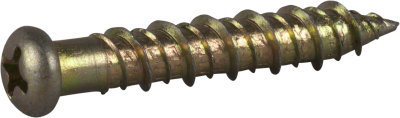CONCRETE SCREW 6,3X35 PAN HEAD PH2 BRIGHT ZINK PLATED