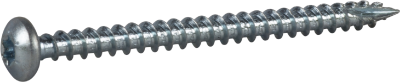 WOOD SCREW FULL THREAD, PAN HEAD. BRIGHT ZINC PLATED