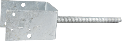 POST BASE TYPE U, ZINC-PLATED