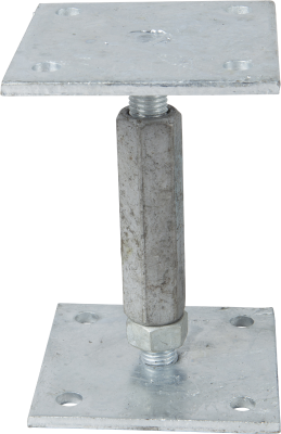 ADJUSTABLE POST BASE TYPE BH, ZINC-PLATED