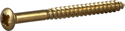 WOOD SCREW RAISED COUNTERSUNK HEAD, BRASS, DIY PACK