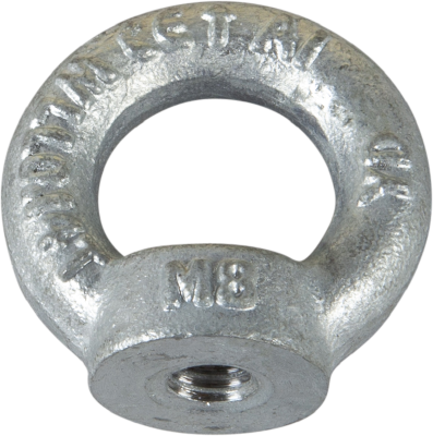 LIFTING EYE LH, THREADED HOLE DIN 582. HOT DIP GALVANIZED