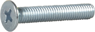 MACHINE SCREW COUNTERSUNK HEAD, DIN 965/ISO 7046, ELECTRO ZINC PLATED