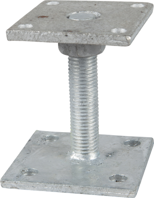 ADJUSTABLE POST BASE TYPE B2, ZINC-PLATED