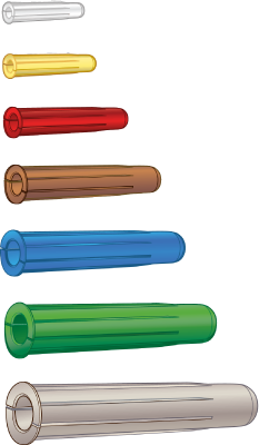 SCREW WITH PLASTIC PLUG
