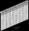 Vinutės D18, 25°. Blizgaus cinkavimo (FZB).