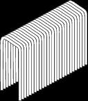 STAPLES PL16 = STAPLES S16. BRIGHT ZINC PLATED