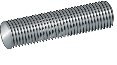 THREADED ROD 4.8, BRIGHT ZINC PLATED, 1 METRE, DIN 976
