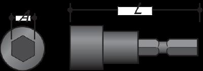 Magnetisk mutterhylse 65mm