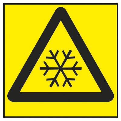 Varningsskylt Låg temperatur