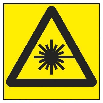 Varningsskylt Laserstrålning