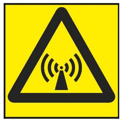 Varningsskylt Mikrovågsstrålning