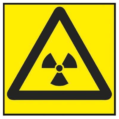Varningsskylt Radioaktiva ämnen