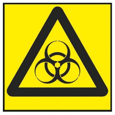 Varningsskylt Biologisk fara/Smittrisk