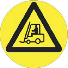 Varoitusmerkki Tavaraliikenne, lattiatarra 39-4440