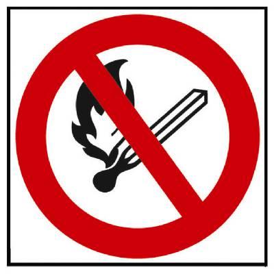 Kieltomerkki Tupakointi ja avotulen teko kielletty