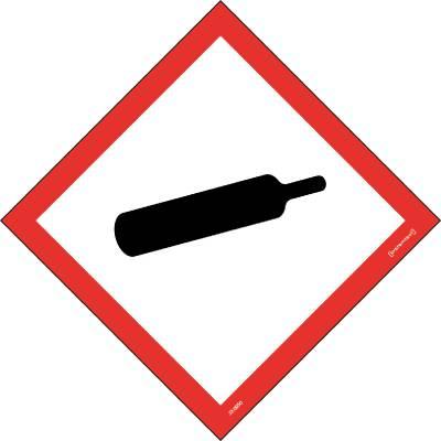 Skylt Kemiska ämnen Gasbehållare