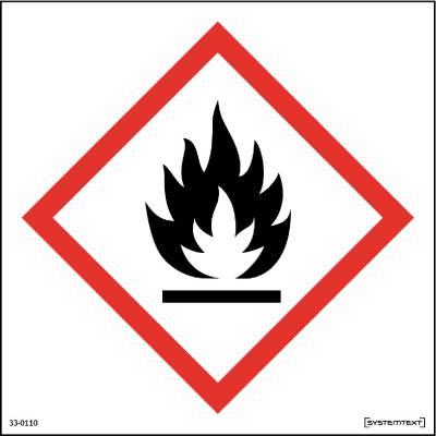 Skylt 33-0110, 33-0111 Kemiska ämnen Brandfarliga ämnen