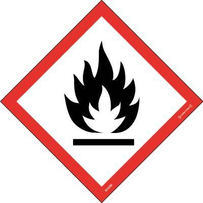 Skylt 33-0150 Kemiska ämnen Brandfarliga ämnen