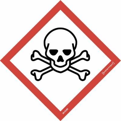 Skylt 33-0810, 33-0811 Kemiska ämnen Giftiga ämnen