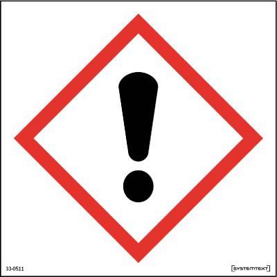 Skylt 33-0510, 33-0511 Kemiska ämnen Skadliga ämnen