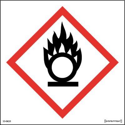 Skylt 33-0410, 33-0411 Kemiska ämnen Oxiderande ämnen