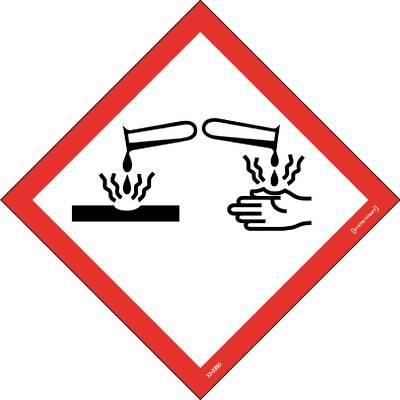 Skylt 33-0350 Kemiska ämnen Frätande ämnen