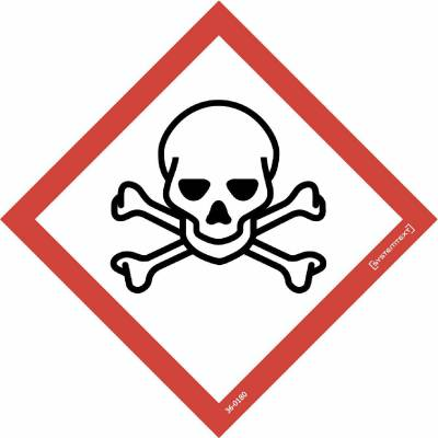 Skylt 33-0850 Kemiska ämnen Giftiga ämnen