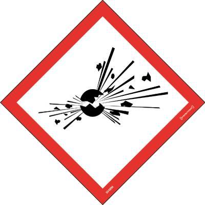 Skylt 33-0250 Kemiska ämnen Explosiva ämnen