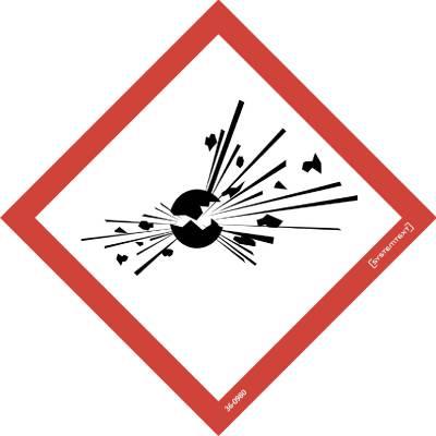 Kilpi Symboli CLP Räjähtävä