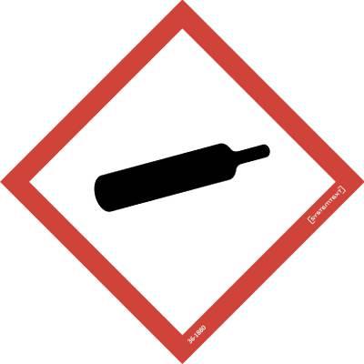 Kilpi Symboli CLP Paineen alaiset kaasut