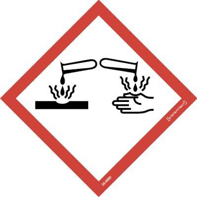 Kilpi Symboli CLP Syövyttävä