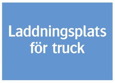 Informationsskylt Laddningsplats för truck