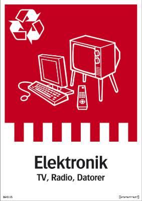 Miljödekal Elektronik