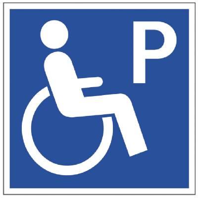 Parkeringsskylt Parkering handikapp