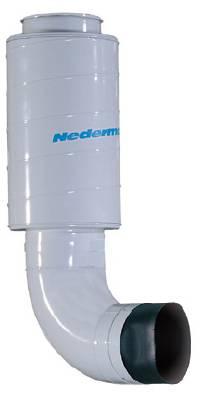 Silencer for oil mist filter NOM Nederman
