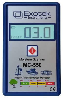 Moisture indicator for wood and construction materials (non-destructive) Exotek MC-502