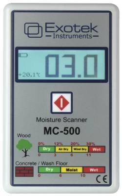 Moisture indicator for wood and construction materials (non-destructive) Exotek MC-501