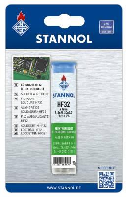 Lödtråd med flussmedel Stannol Typ HF 32 Ecoloy TC