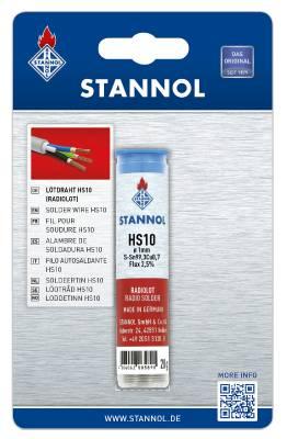Lödtråd med flussmedel Stannol HS10 Ecoloy TC