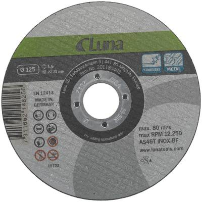Cut-off wheel Luna for iron and steel