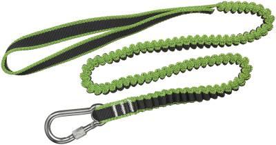 Stropp elastisk med løkke og karabinkrok til verktøysikring