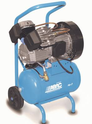 Kolvkompressor ABAC PRO V30 på kärra
