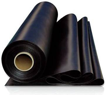 Rubber sheet natural with fabric insert