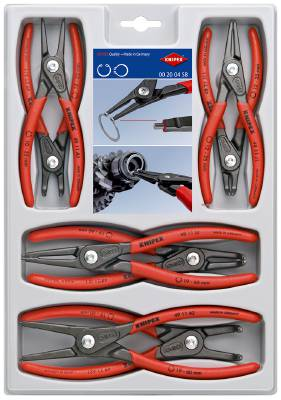 Precision Circlip Pliers for internal and external circlips Knipex 00 20 04 SB