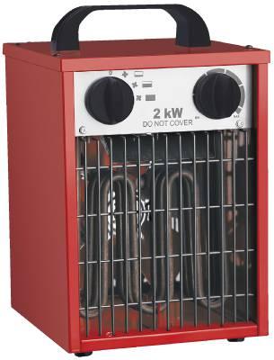 Construction fan heater 2 kW, 3.3 kW