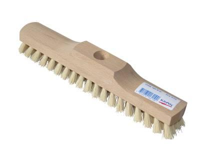 Deck brush, soft bristles and wooden back KRON